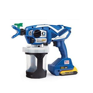 Graco Ultra Max Airless Handheld Sprayer for Staining a Fence