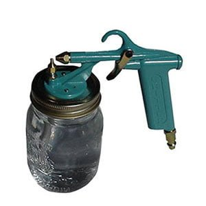 Critter Siphon sprayer for fence stain