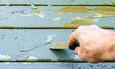 remove flaking paint