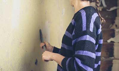 strip paint off wood walls