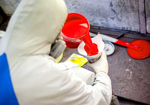 Step by step guide how to mix paint for spray gun