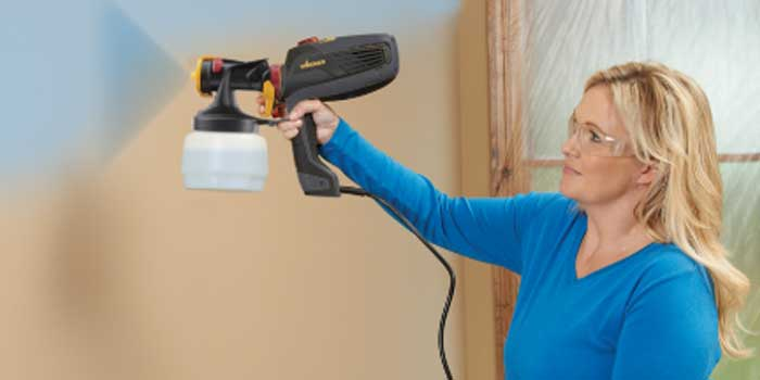 Paint a Room with paint sprayer