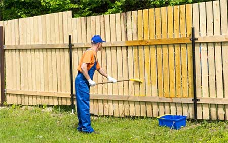 How-to-Stain-a-Fence-with-a-Roller