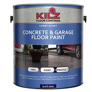 KILZ L377711 Epoxy Acrylic Interior/Exterior Garage Floor Paint