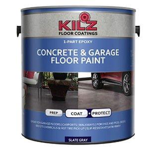 KILZ L377711 Epoxy Acrylic Interior/Exterior Garage Floor Paint
